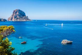Ibiza during a mediterranean yacht charter