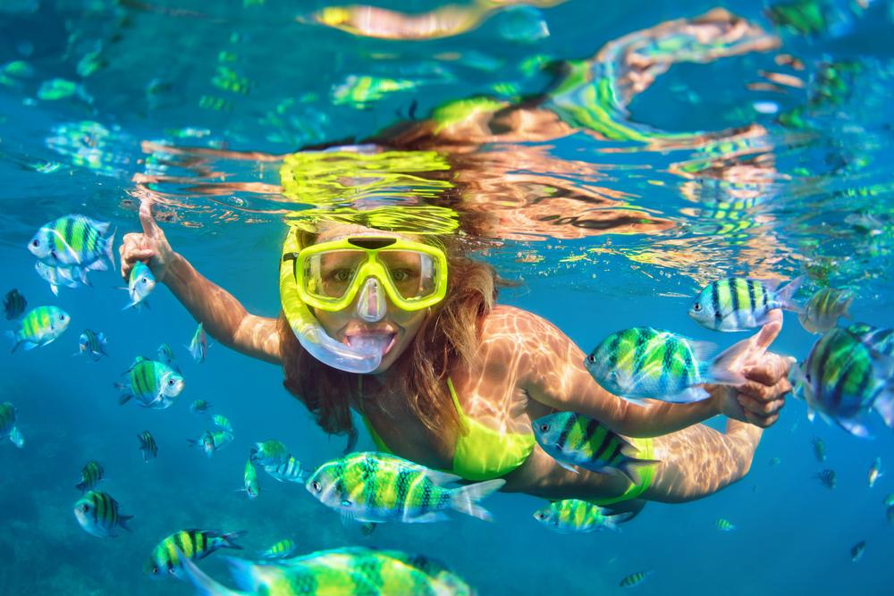 luxury yacht charter snorkeling