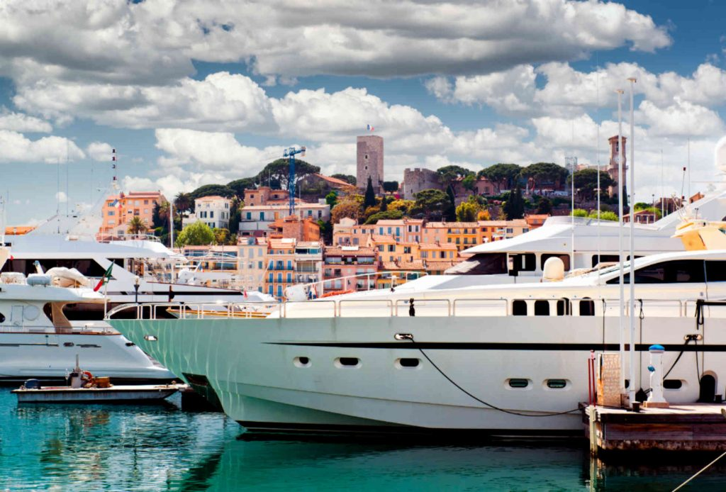 Yachts at Cannes Yachting Festival