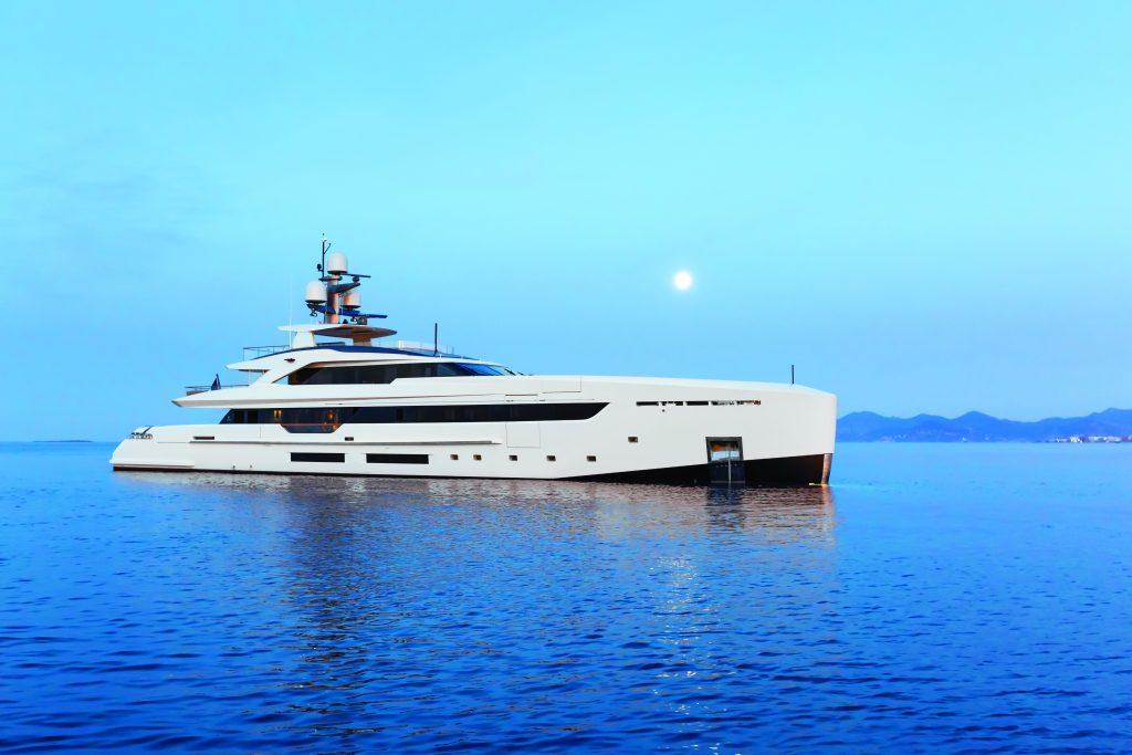 Vertigo MY displayed at FLIBS with Chamberlain Yachts
